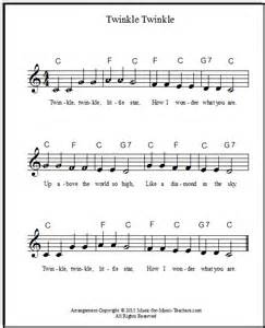 twinkle twinkle little star free sheet music for piano