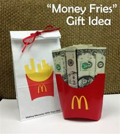 money fries the perfect money gift idea making