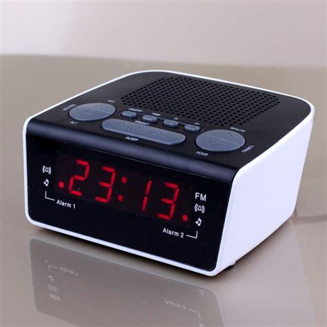 0 6 inch led digital radio alarm clock dual alarm fm tuner and digital pll frequency tuning in