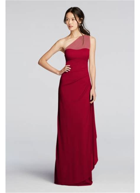 Bridesmaid Dress Sale David S Bridal - mesh one shoulder illusion dress davids bridal