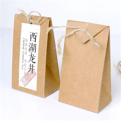 Paper Bag Folding - thick brown kraft paper folding gift pouch bag lace up