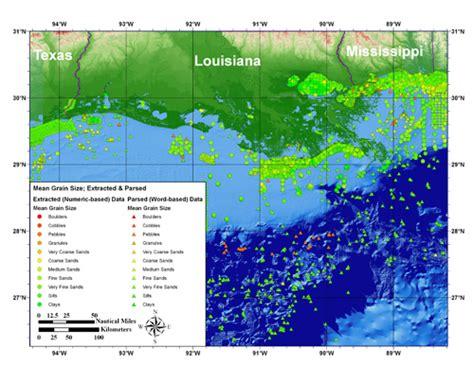 louisiana map gis usgs open file report 2006 1195 surficial sediment