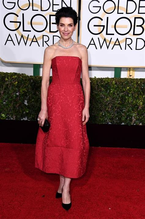2015 golden globes julianna margulies julianna margulies in red at the golden globes january