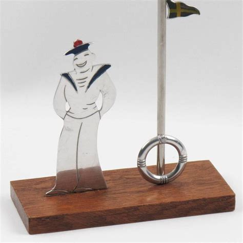 art deco barware french art deco sailor and flags glass markers barware