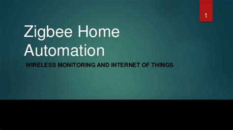 zigbee with home automation