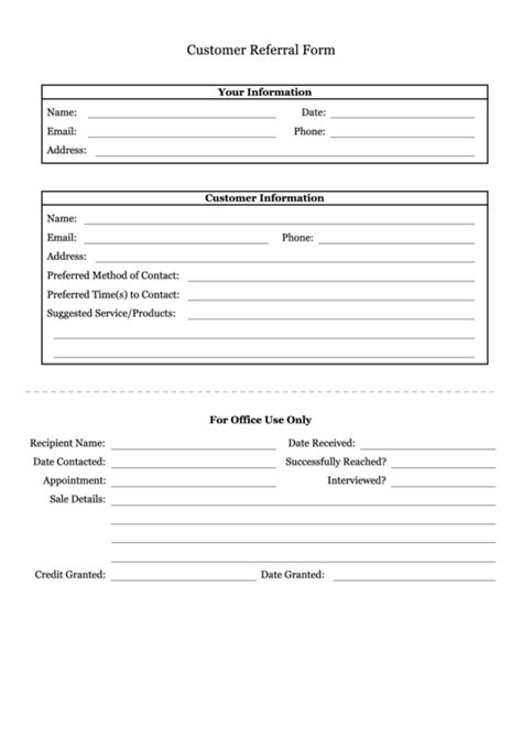 client referral form template top customer referral form templates free to in