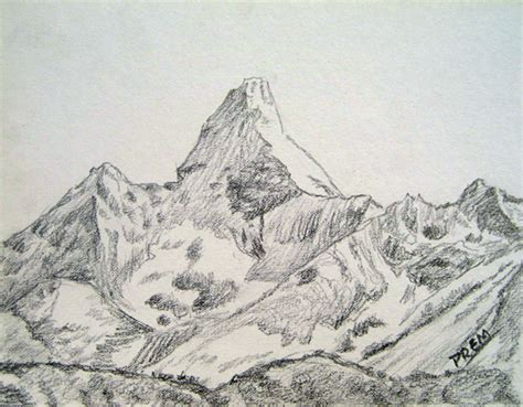 Sketches Mountains by Mountain Pictures Mountains Sketch
