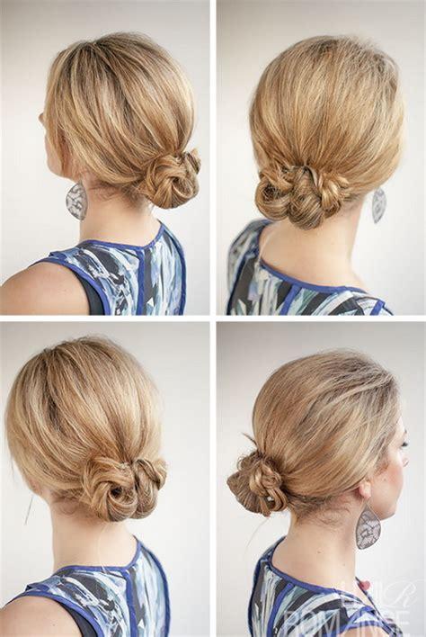 hairstyles for short hair bun braided bun hairstyle