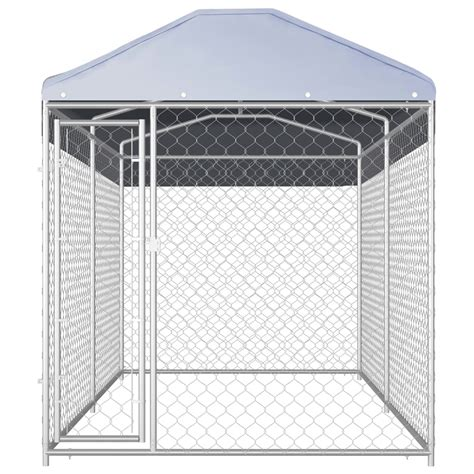 heavy duty dog kennel  canopy metal cage dog house