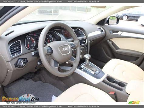 2013 Audi A4 Interior by Velvet Beige Moor Brown Interior 2013 Audi A4 2 0t Sedan