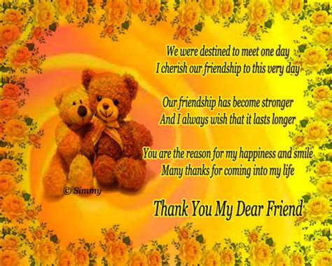 thank you letter to special friend thank you my dear friend free friends ecards greeting
