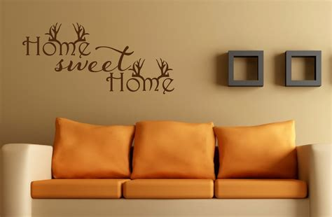 home sweet home decor home sweet home wall decal antler decor hunting decal home