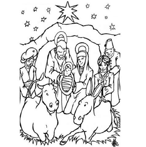 christian merry christmas coloring pages jesus christ colouring pages clipart best