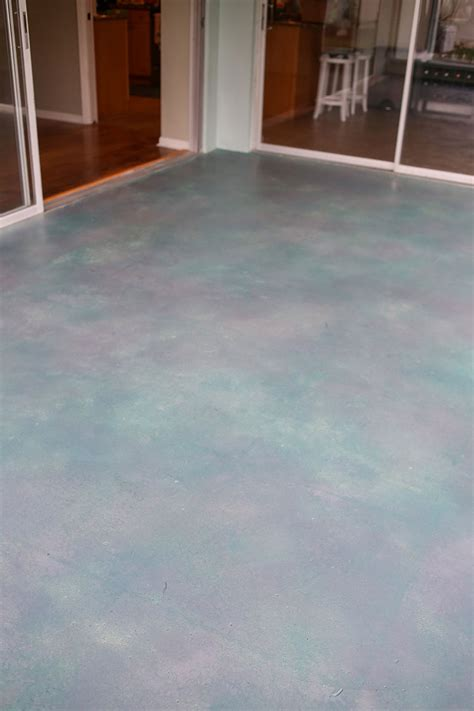 Concrete Patio Stain Colors - how to stain concrete for a luxe look