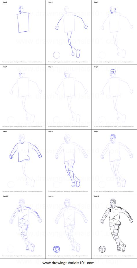 doodle drawing step by step how to draw cristiano ronaldo printable step by step