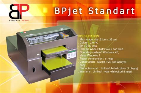 Mesin Printer Dtg A2 Epson by Jual Printer Dtg Murah Produsen Bp Jet Agen Kaos Gelap A3
