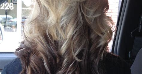 name of hair trend blonde on bottom blonde highlights on top dark brown ombre on bottom of