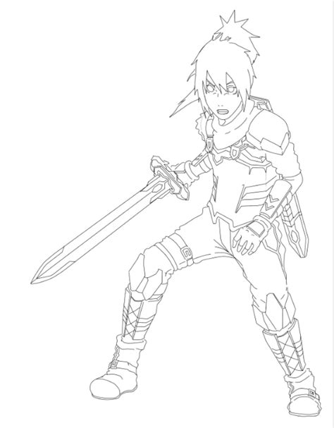 sword art online colouring pages