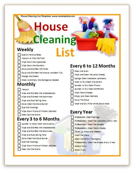 87 Best Images About House Kitchen Bathroom Rules On Pinterest Cleanses Family Rules And Mantra House Cleaning Checklist Template Free