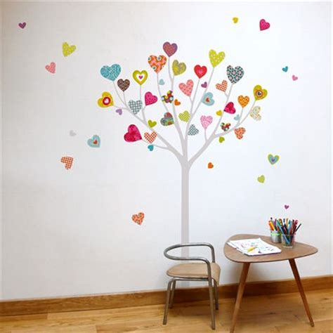 heart wall stickers for bedrooms mia co heart tree giant transfer wall decals