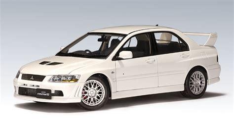 mitsubishi car white autoart mitsubishi lancer evo vii car white