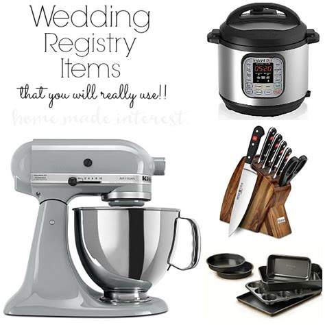 Wedding Gift Registry Ideas List by What To Put On A Wedding Registry Home Made Interest
