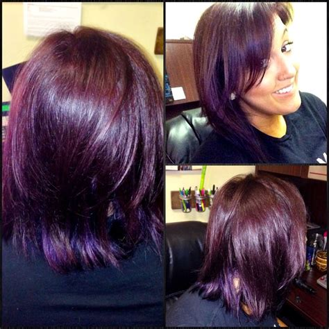 5vv hair color my new plum hair i used matrix color sync 5v with some
