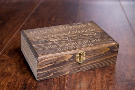 Handmade Memory Boxes - custom memory box small rustic wooden keepsake box
