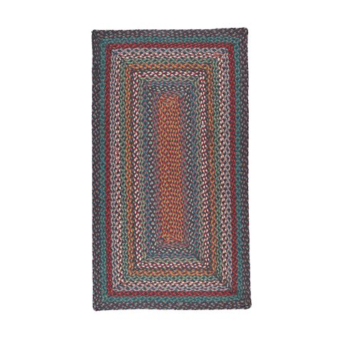 rectangle rugs buy the braided rug company rectangular rug 61x91cm carnival blue amara