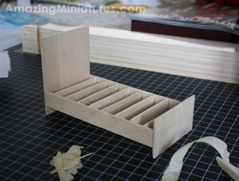 Making a Miniature Modern Twin Bed