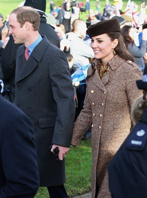 duchess kate and prince william at sandringham church service