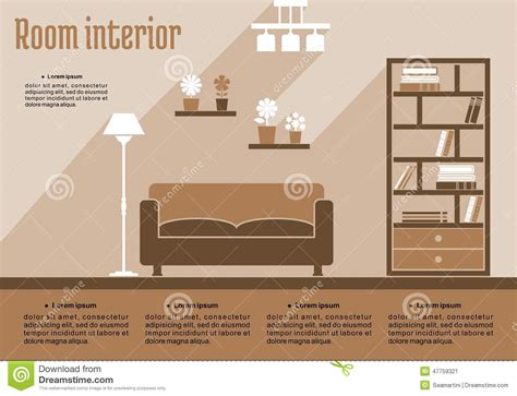 interior design room layout template brown living room interior stock vector image 47759321