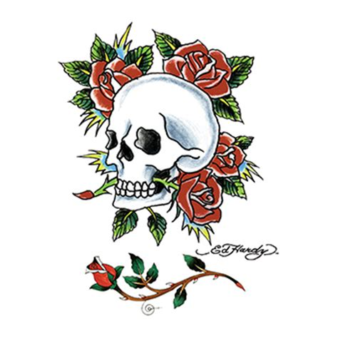 ed hardy rose tattoo ed hardy skull and roses temporary goimprints