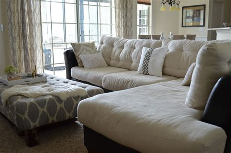 tufted couch cushions inside out design how to do buttonless tufting on couch