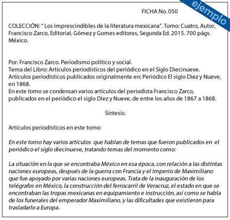 Resumen O Sintesis by Ejemplos De Ficha De S 237 Ntesis