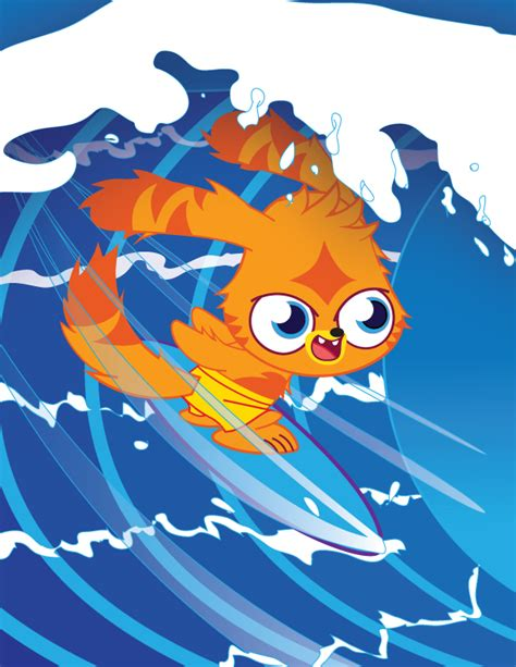 painting moshi monsters katsuma surfing by matthewdickerson on deviantart