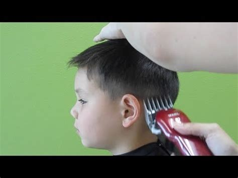 how to cut 7 year old boys hair little boy s clipper haircut straight hair youtube