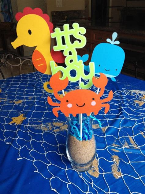 Baby Shower The Sea Theme by The Sea Baby Shower Centerpieces In Stock And Ready To Ship The Sea Baby Shower