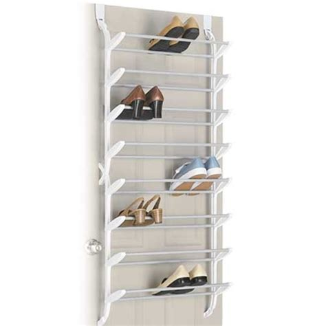 door shoe organizer 24 pair shoe rack non slip over the door shoe organizer