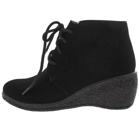 Boots Wedges 88 natashawy3 black lace up wedge ankle boots from 12 88