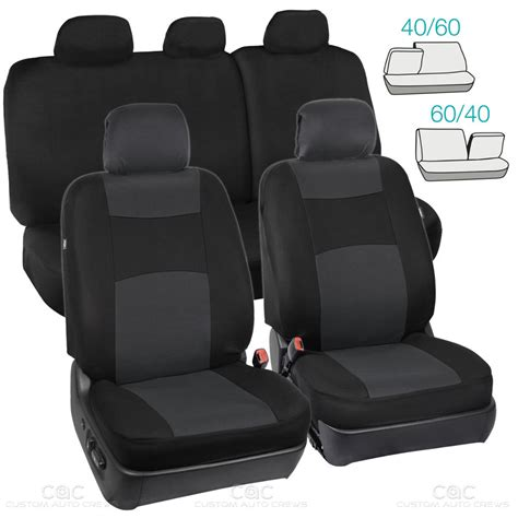 auto bench seat covers charcoal black seat cover for car auto suv polyester