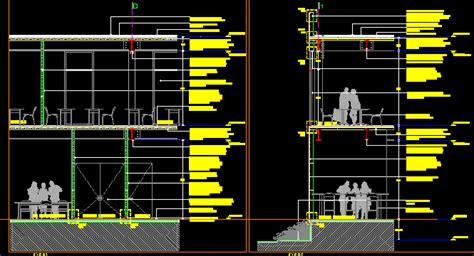 steel plates concrete system dwg detail  autocad