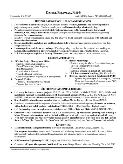 Technical Program Manager Resume by Technical Program Manager In Washington Dc Resume Daniel