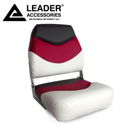 boat seat vinyl upholstery new white red charcoal folding boat seat made of marine