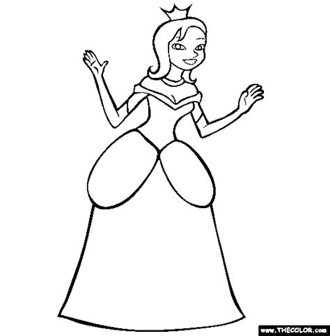 Prince And Princess Online Coloring Pages Page 1 The Princess Coloring Pages Free Coloring Sheets
