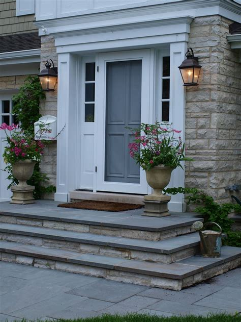 the house entrance door steps indian style bluestone front entry stoop front entry stoop with bluesto flickr building projects