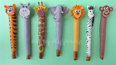 safari crafts for jungle animal pretzel pops and tasty treats
