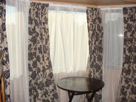window curtain treatments owen family six bay window curtains