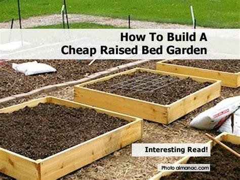 how to make a raised garden bed cheap how to build a cheap raised bed garden