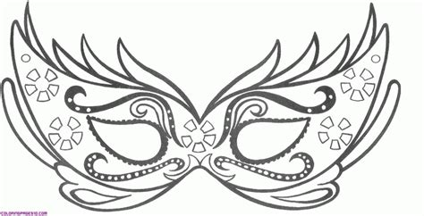 mardi gras mask coloring page az coloring pages carnival